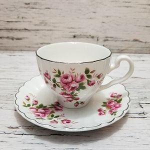 Vintage Rare Johnson Bros Ironstone Cup and Saucer